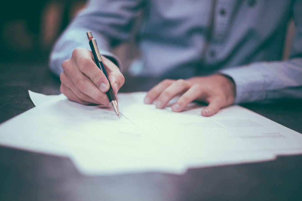 Signing Paperwork